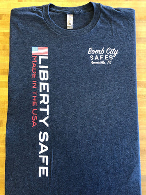 Liberty Flag - Bomb City Safes T-Shirt