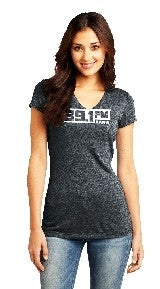 KANW Women's V Neck-T (Black)