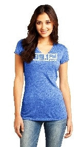 KANW Women's V Neck-T (Deep Royal)