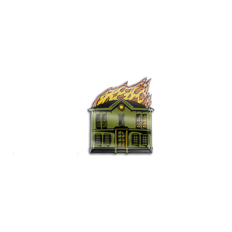 House Fire Pin