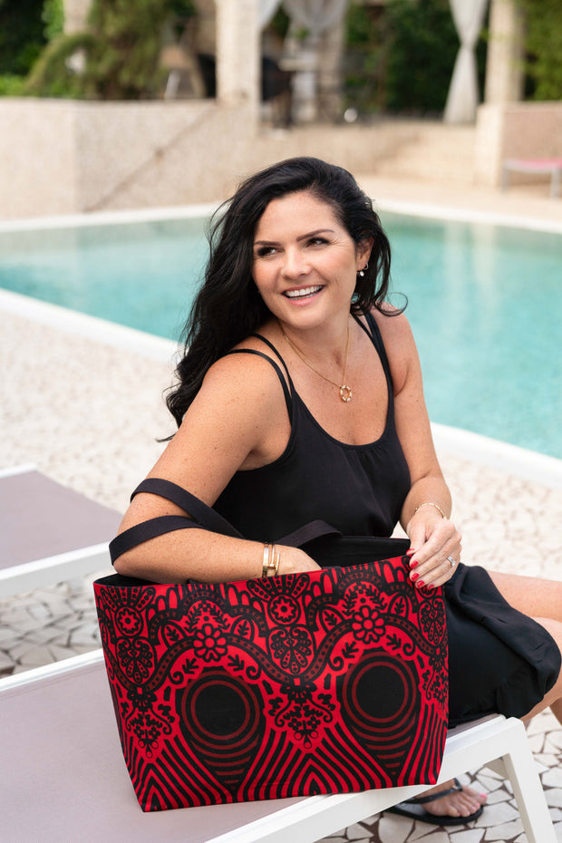 Tote bag réversible - Sourire d'amour - BE BOLD BY DIAMANY