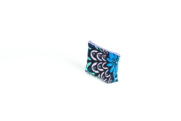 Petite pochette de maquillage - Floral Blue Awaken - BE BOLD BY DIAMANY