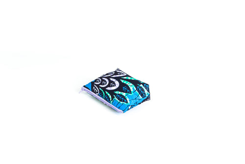 Be Bold by Diamany Floral Pouch SS17 - Blue Awaken