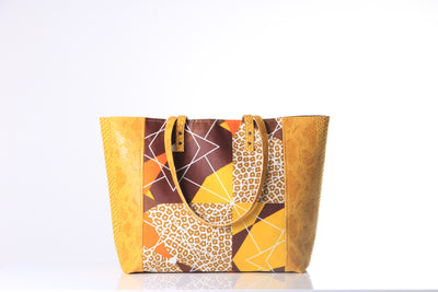 Sac Fourre-tout en Faux Cuir – Wondrous Yellow - BE BOLD BY DIAMANY
