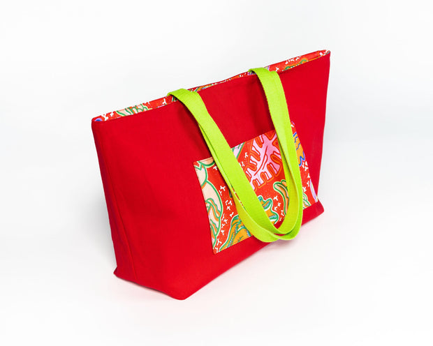Tote bag réversible - Sourire de charme - BE BOLD BY DIAMANY