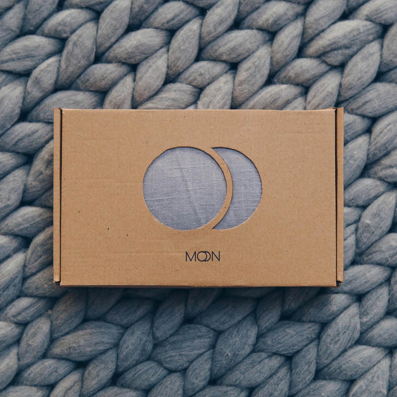 Grey Moon Ring Sling delivered in eco packing