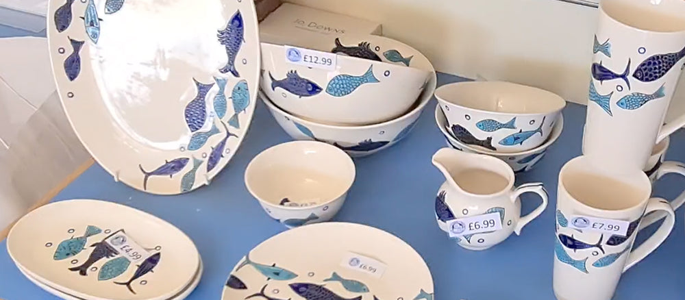 Our Blue and White Fish Collection
