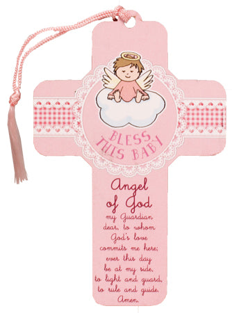 Wood Cross – Bless this Baby Girl | Childrens & Youth | The Shrine Shop