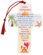 Wood Cross – God's Footprints | Crosses & Crucifixes | The Shrine Shop