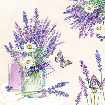 Small Napkins – Lavender Jar