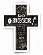 Wooden Message Cross – Bless This Home | Crosses & Crucifixes | The Shrine Shop