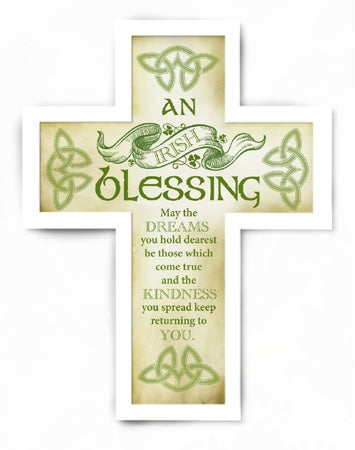 Wooden Message Cross – Irish Blessing | Crosses & Crucifixes | The Shrine Shop