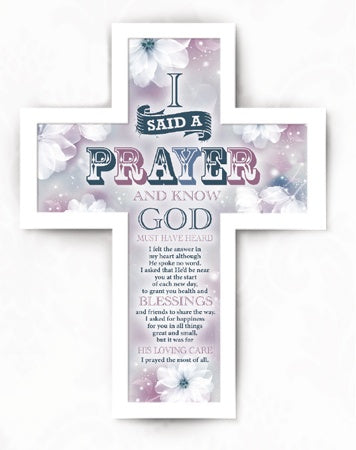 Wooden Message Cross – I Said a Prayer | Crosses & Crucifixes | The Shrine Shop