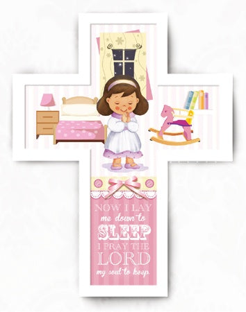 Wooden Message Cross – Girl