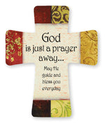 Porcelain Cross – God Is Just A Prayer Away | Crosses & Crucifixes | The Shrine Shop