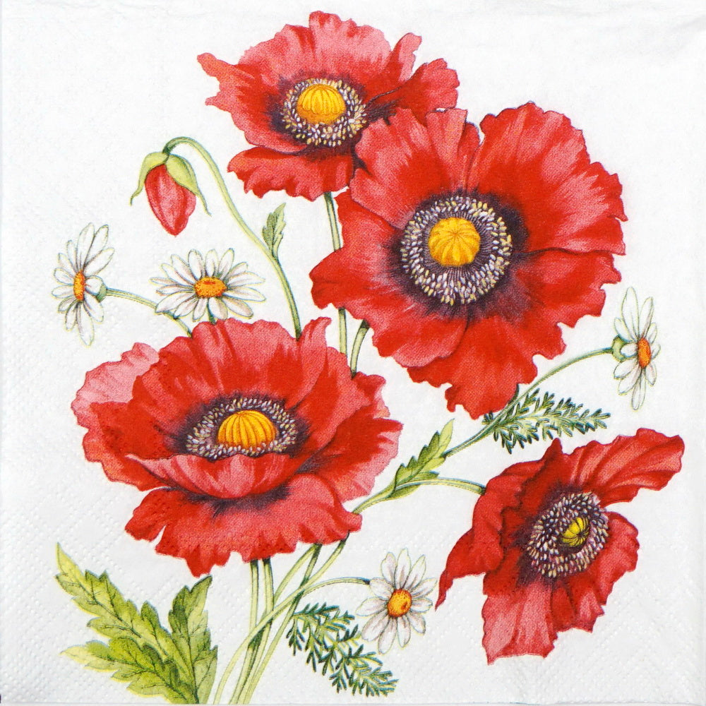 Small Napkins – Poppy Scene | Gifts | The Shrine Shop