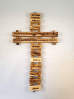 The Lord's Prayer Olive Wood Cross Wall Hanging |  | The Shrine Shop