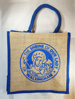 Our Lady of Walsingham Jute Bag Blue