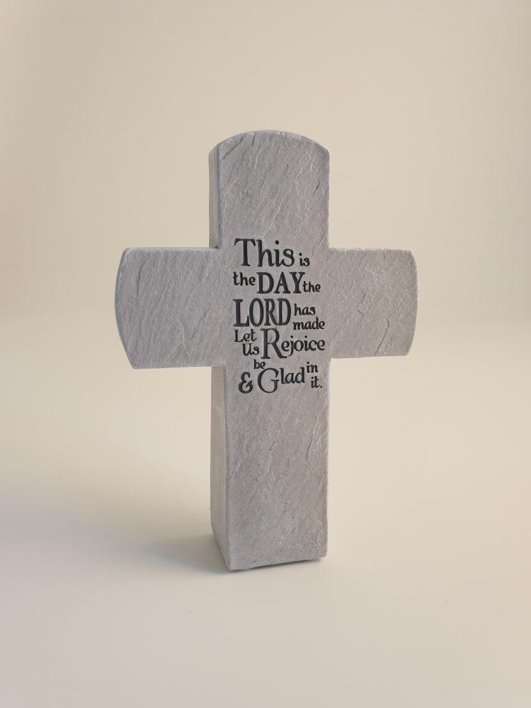 Standing Cross – This is the Day - The Shrine Shop