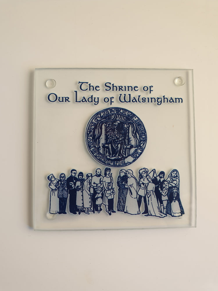 The Shrine of Our Lady of Walsingham Coaster – Glass | Our Lady of Walsingham | The Shrine Shop