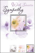 Card – With Sincere Sympathy | Greetings Cards & Stationery | The Shrine Shop