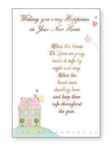 Card – Wishing You Happiness in Your New Home | Greetings Cards & Stationery | The Shrine Shop