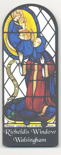 Richeldis Window Fridge Magnet | Our Lady of Walsingham | The Shrine Shop