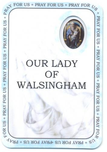 Our Lady of Walsingham Prayer Card