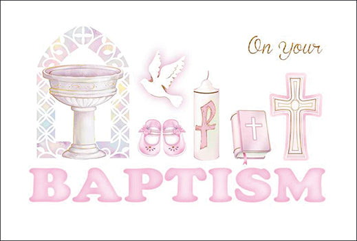 Card – On Your Baptism Girl