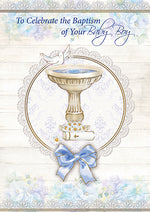 Card –  To Celebrate the Baptism of Your Baby Boy