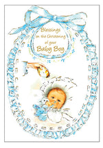 Card –  Blessings on the Christening of your Baby Boy