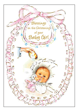 Card – Blessings on the Christening of your Baby Girl