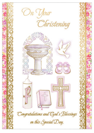 Card – On Your Christening Girl