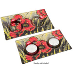 Poppy Twin Tealight Holder