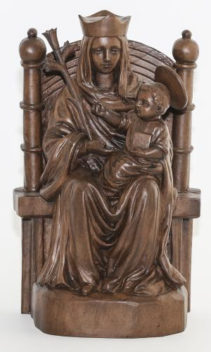 Our Lady of Walsingham Resin Wood