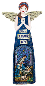 Christmas Porcelain Angel – Peace, Love, Joy