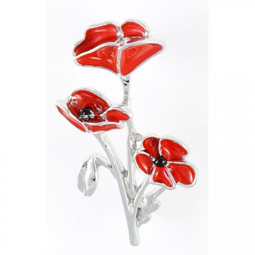 Poppy Three Poppies Brooch 45mm | Jewellery & Medals | The Shrine Shop