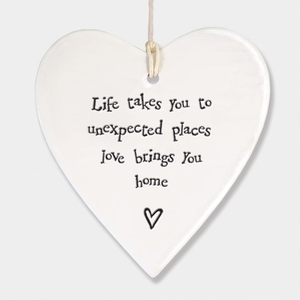 Porcelain Round Heart – Life Takes You | Gifts | The Shrine Shop