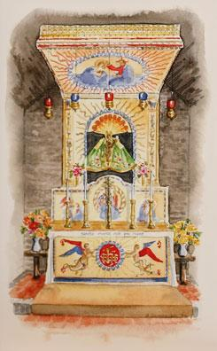 Holy House Notelet | Our Lady of Walsingham | The Shrine Shop