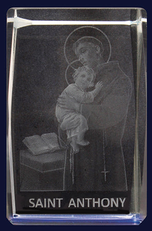 Glass Block – St Anthony | Statues & Icons | The Shrine Shop