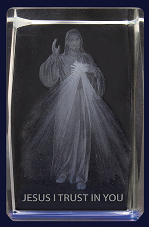 Glass Block – Divine Mercy | Statues & Icons | The Shrine Shop