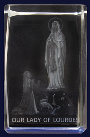 Glass Block – Lady Of Lourdes | Statues & Icons | The Shrine Shop