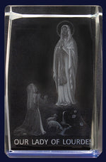 Glass Block – Lady Of Lourdes - The Shrine Shop