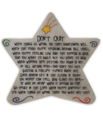 Don't Quit Star Plaque | Gifts | The Shrine Shop