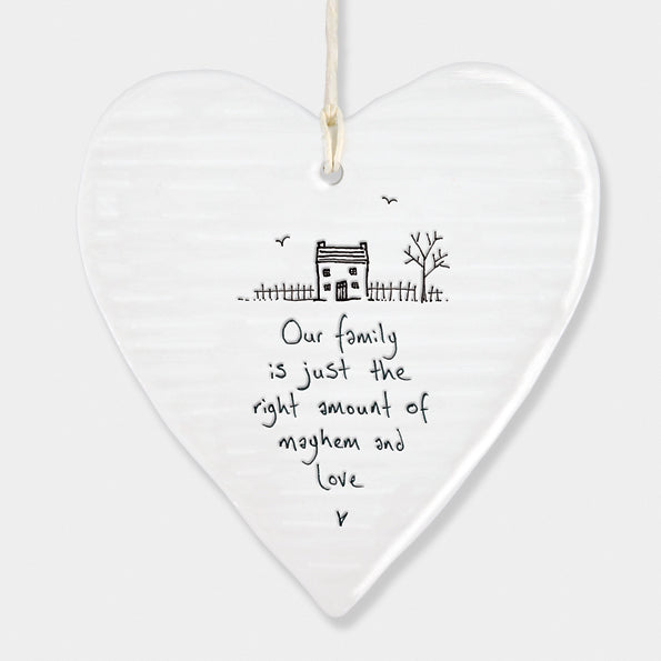 Porcelain Round Heart – Our Family