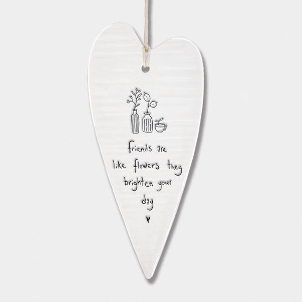 Porcelain Long Heart – Brighten Your Day | Gifts | The Shrine Shop