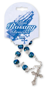 Blue Bead Rosary Bracelet | Rosaries & Prayer Cards | The Shrine Shop