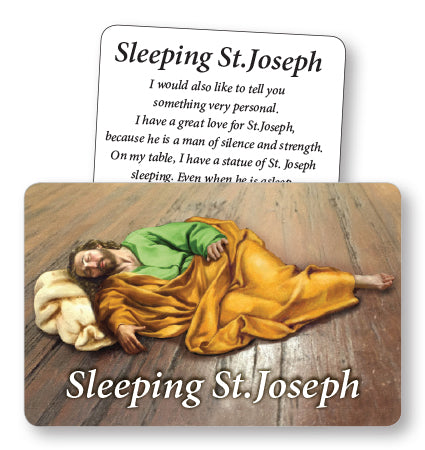Sleeping Saint Joseph Prayer Card