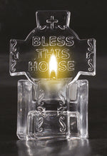 Glass Cross Tealight Holder – Bless This Home | Gifts | The Shrine Shop