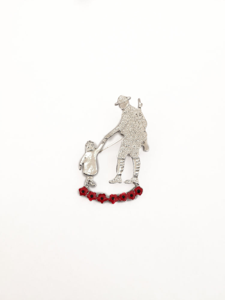 Father and Child Poppy Brooch - The Shrine Shop